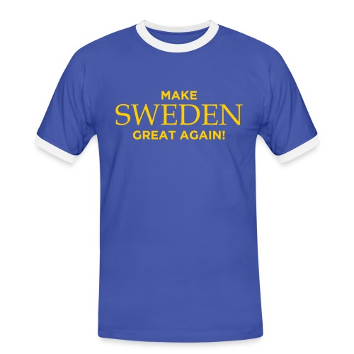 Make Sweden Great Again! - Kontrast-T-shirt herr