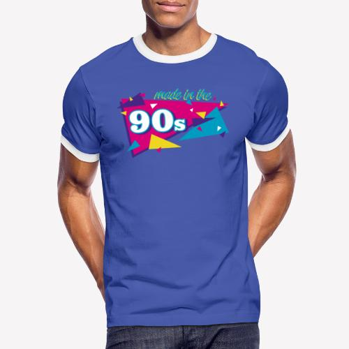 Made in the 90s - Männer Kontrast-T-Shirt