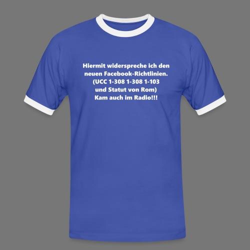 Facebook-AGB - Männer - Männer Kontrast-T-Shirt