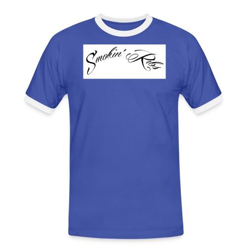 letter black gebogen - Männer Kontrast-T-Shirt