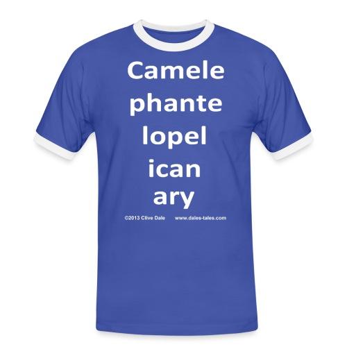 camelepha 5lines white - Men's Ringer Shirt