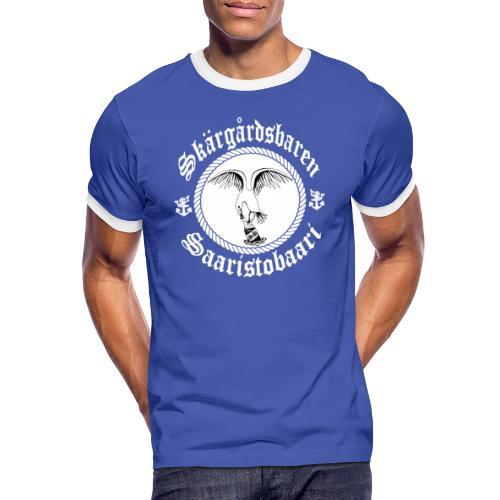 White Logo - Miesten kontrastipaita