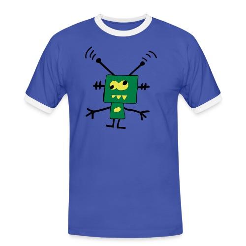 robot - Koszulka męska z kontrastowymi wstawkami