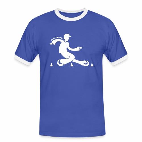 motif kompakombo blanc - T-shirt contrasté Homme