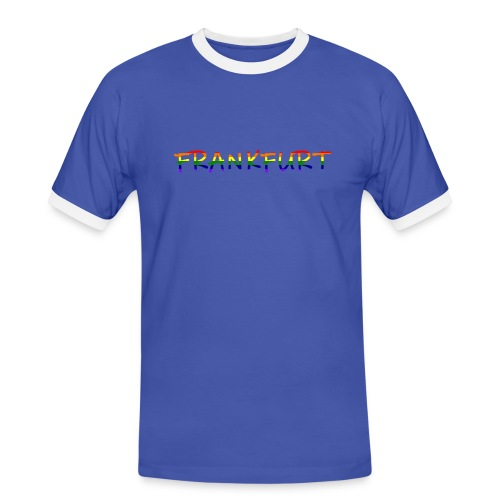 Frankfurt Rainbow #1 - Männer Kontrast-T-Shirt