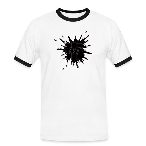 Blacktuber Splash Logo - Mannen contrastshirt