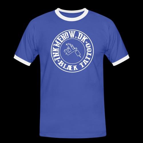 logo hvid png - Herre kontrast-T-shirt