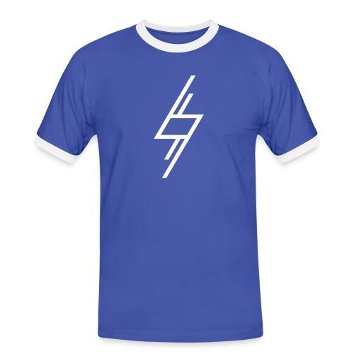 Sort T-Shirt - Herre kontrast-T-shirt