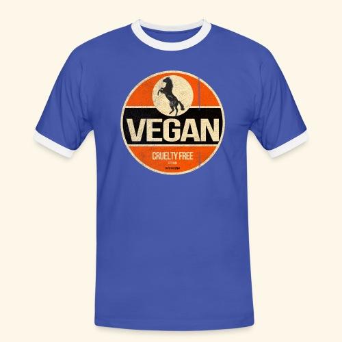 VEGAN Prancing Horse - Men's Ringer Shirt