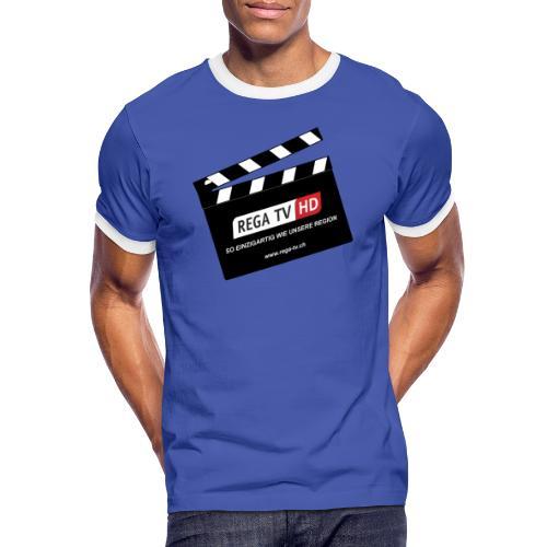 REGA-TV: Klappe - Männer Kontrast-T-Shirt