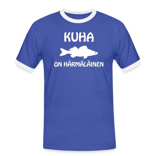KUHA ON HÄRMÄLÄINEN - Miesten kontrastipaita