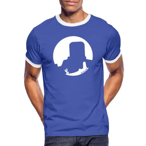 Logo French Wester blanc - T-shirt contrasté Homme