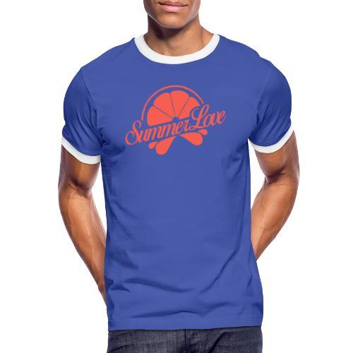 Logo Summer Love 00 - Mannen contrastshirt