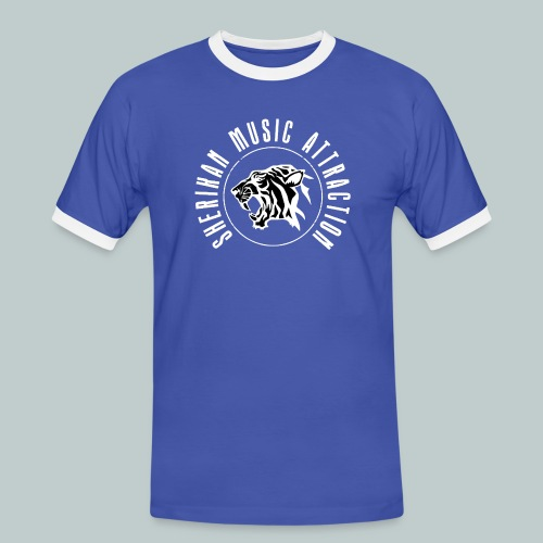 The Sherikan Music Attraction logo - Kontrast-T-shirt herr