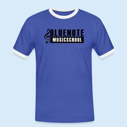 Bluenote Musicschool Logo Schwarz/Weiss - Männer Kontrast-T-Shirt