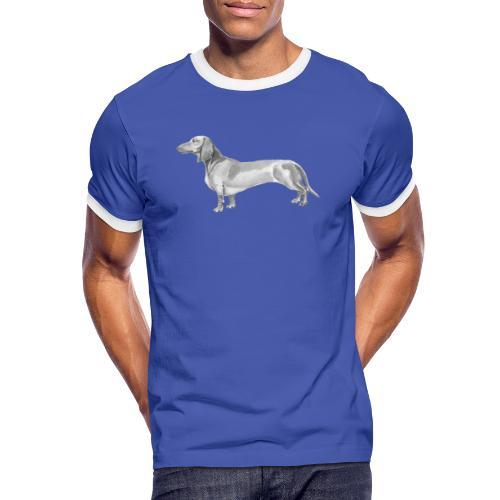 Dachshund smooth haired - Herre kontrast-T-shirt