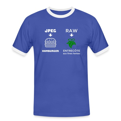 JPEG vs RAW - Camiseta contraste hombre