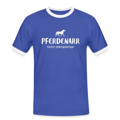 Vorschau: Pferdenarr - Männer Kontrast-T-Shirt