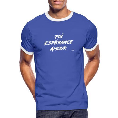 Foi Espérance Amour - T-shirt contrasté Homme