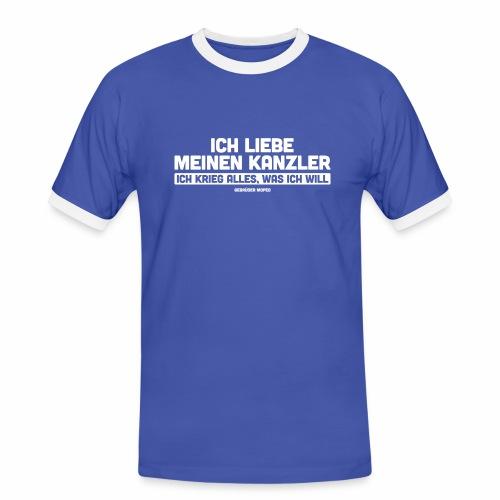 Ich liebe meinen Kanzler - Männer Kontrast-T-Shirt