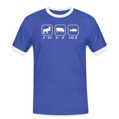 Ich liebe Dich - Männer Kontrast-T-Shirt