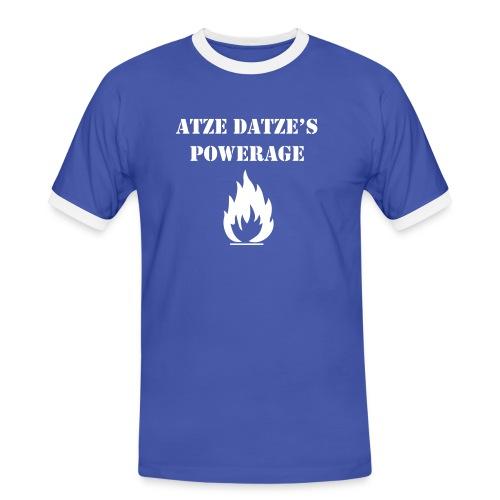 Atze Datze Logo - Männer Kontrast-T-Shirt