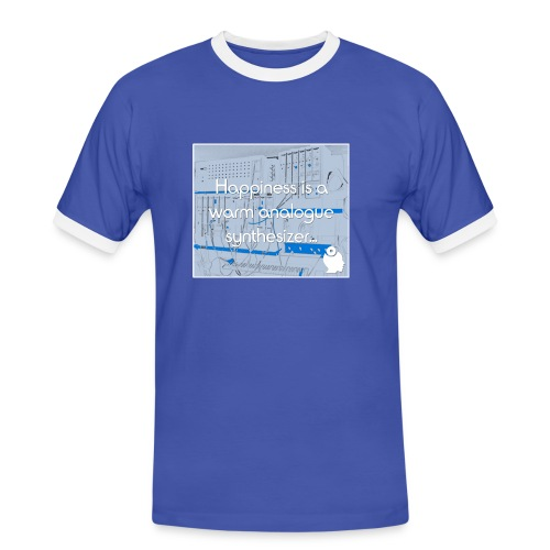 Happiness is a warm Analogue Synthesizer - Men's Ringer Shirt