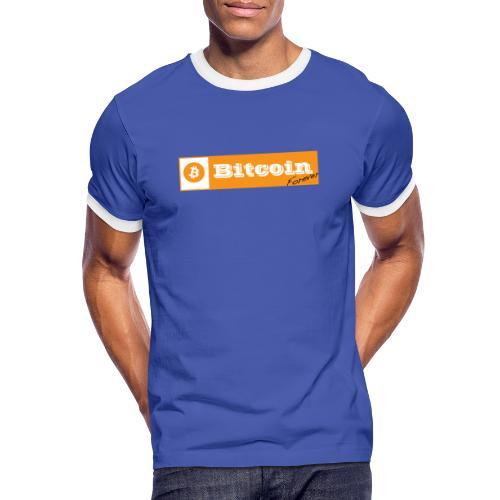 Bitcoin blanc - T-shirt contrasté Homme