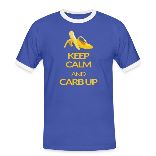 KEEP CALM and CARB UP - Männer Kontrast-T-Shirt