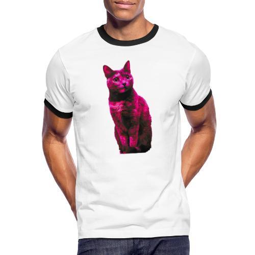 Gatto - Maglietta Contrast da uomo