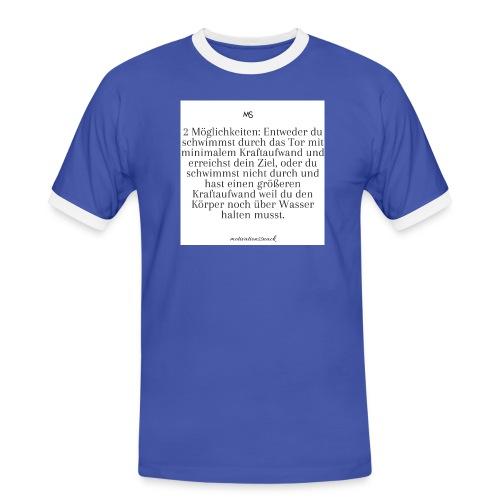 2 Möglichkeiten - Männer Kontrast-T-Shirt