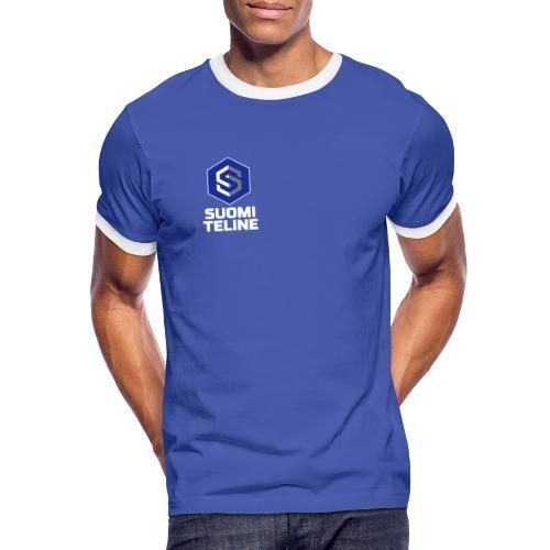 Suomi Teline white vert - Men's Ringer Shirt