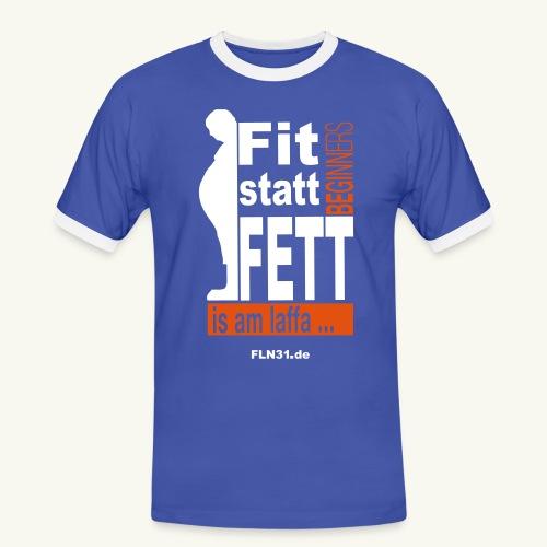 Fit statt Fett - Männer Kontrast-T-Shirt