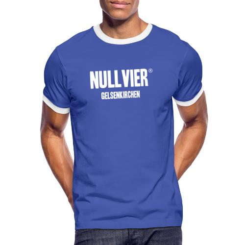 NULLVIER WHITE - Männer Kontrast-T-Shirt
