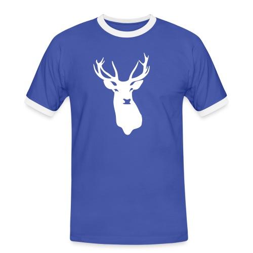 hirsch - Männer Kontrast-T-Shirt