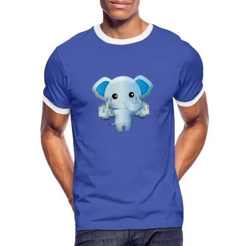 Éléphant F*** - T-shirt contrasté Homme