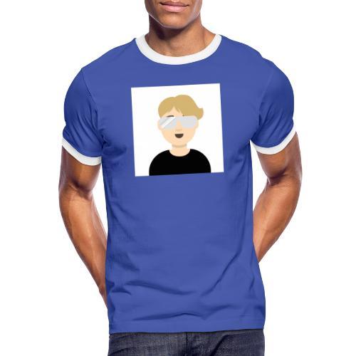 Albin kn-YT - Kontrast-T-shirt herr