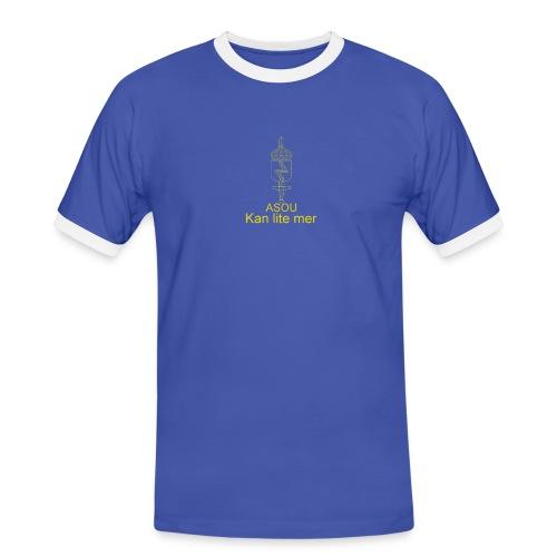 LedSS text png - Kontrast-T-shirt herr