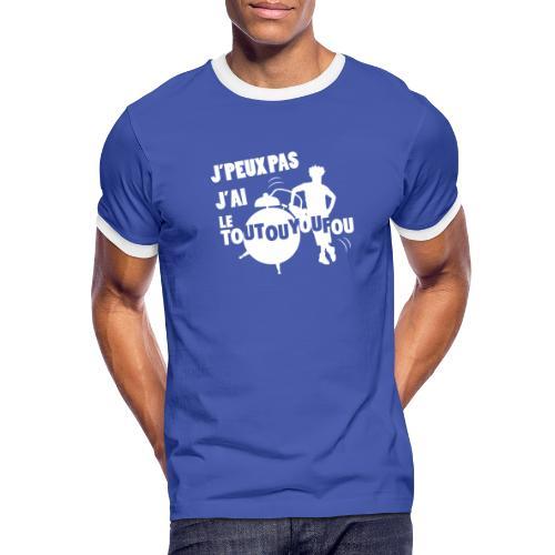 JPEUXPAS BLANC - T-shirt contrasté Homme