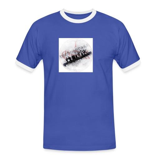 technobrass logo b - Männer Kontrast-T-Shirt
