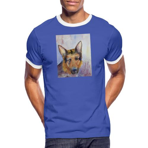 german shepherd wc - Herre kontrast-T-shirt