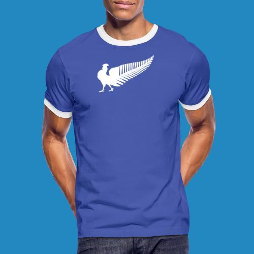 all_bleus_mark_white - T-shirt contrasté Homme