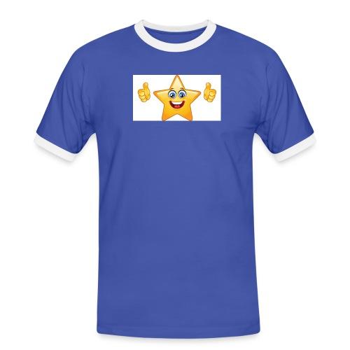 star-smiley-234 - Maglietta Contrast da uomo
