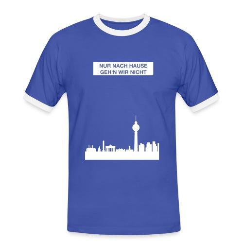 Berlinskyline_weiß - Männer Kontrast-T-Shirt
