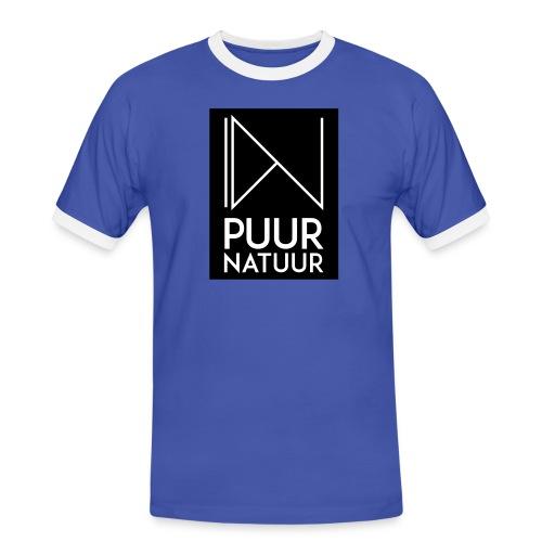 Logo puur natuur negatief - Mannen contrastshirt