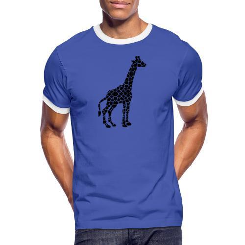 Giraffe (black) - Miesten kontrastipaita