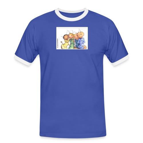 autogrammkarte 1 ohne logo gross - Männer Kontrast-T-Shirt