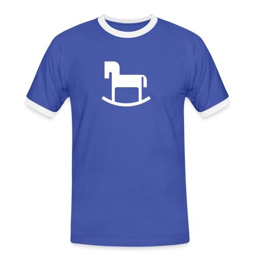 Schaukelpferd - Männer Kontrast-T-Shirt