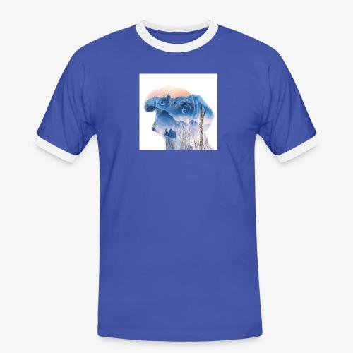 Süsser Hund - Männer Kontrast-T-Shirt