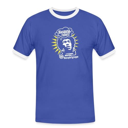 Blasmusic Rules - Männer Kontrast-T-Shirt